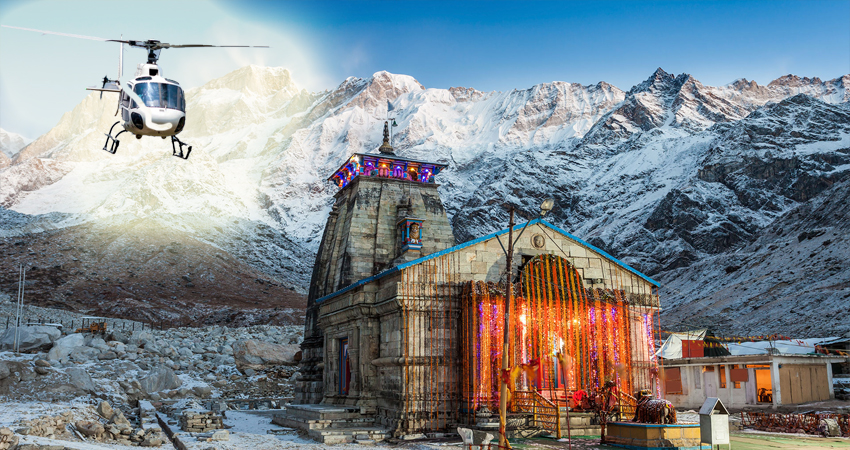 Kedarnath Yatra by Helicopter images